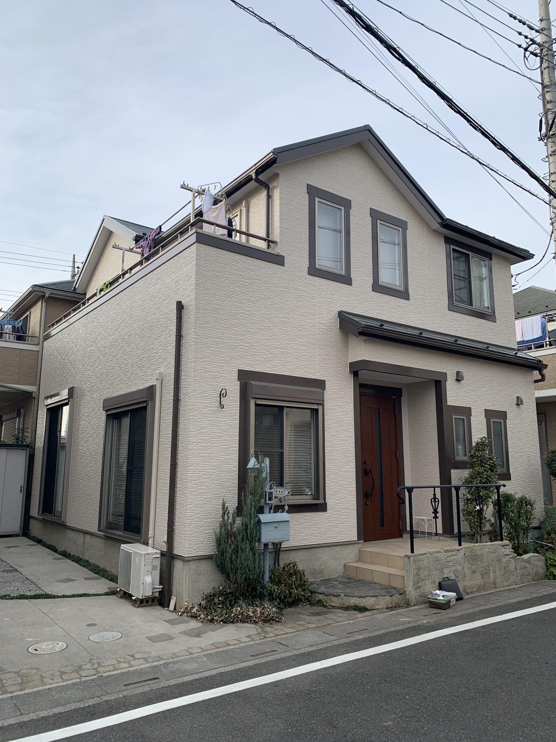 塗装工事越谷市茂木様邸屋根、外壁